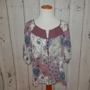 NWOT Anthro Kimchi + Blue Medium Floral Shirt Top